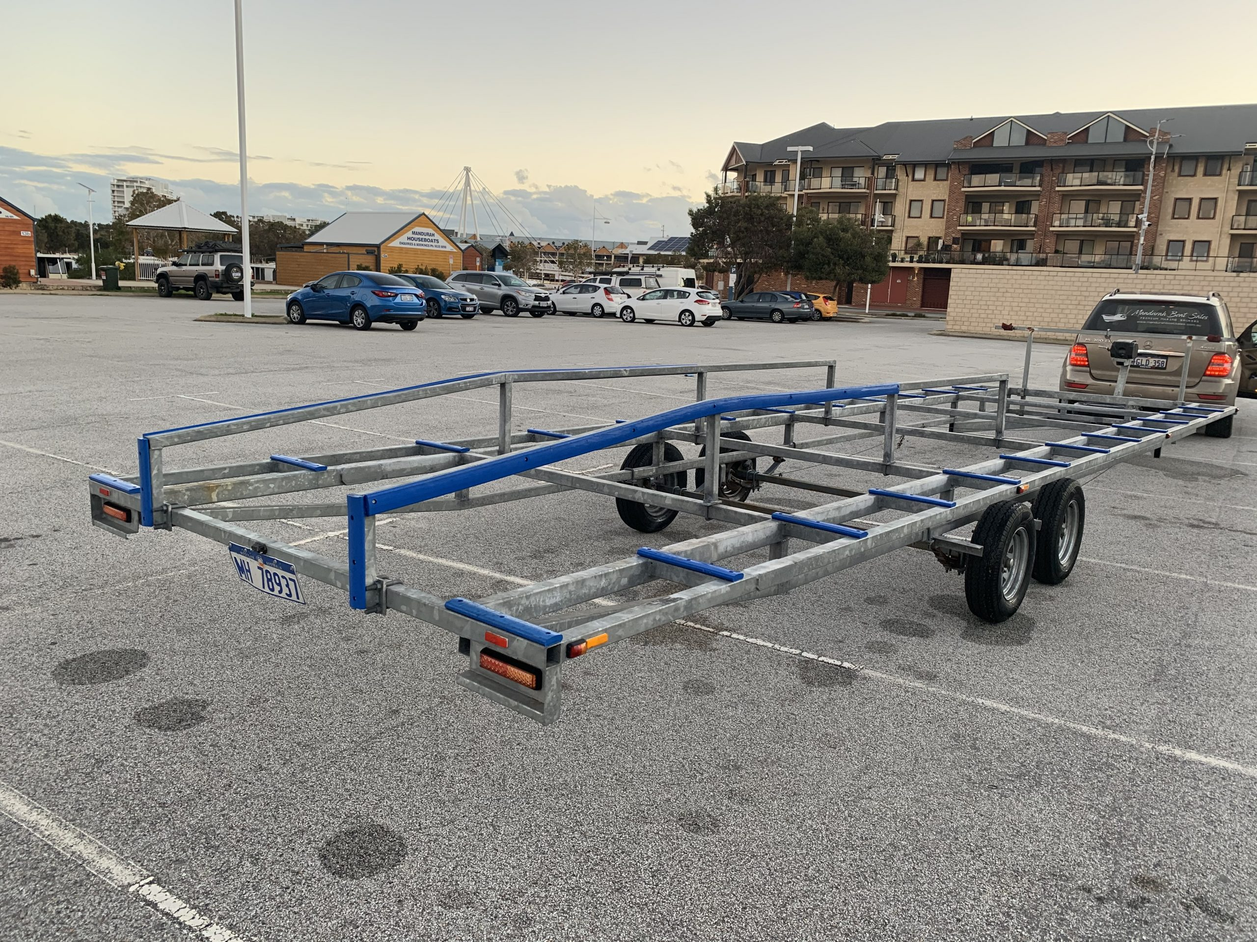 """Custom Pontoon Trailer (2Ton Rated & As New) - """"SOLD ..."""